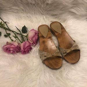 Fendi women's wood slide sandal
